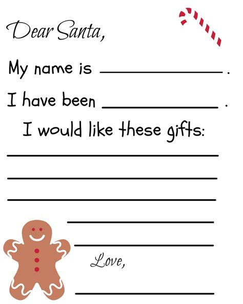 letter to santa template free printable free printable santa letter template debt free spending