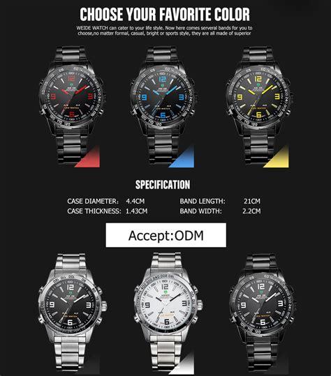 Jam Tangan Seiko Sporty weide jam tangan sporty pria wh1009 black silver