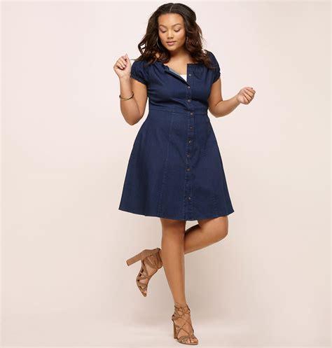 A Line Denim Dress a line denim dress plus size dress loralette