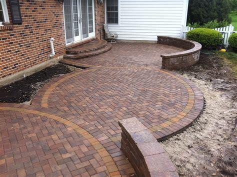 circular paver patio custom paver patio gallery conrades landscape design