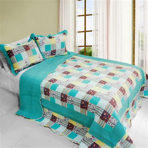 full size cotton sheet sets spring and autumn cotton cool spring cotton vermicelli quilted printed quilt set