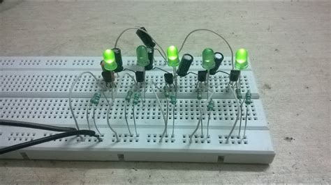 Lu Led Flip Flop flip flop circuit with 5 led using bc547 transistors