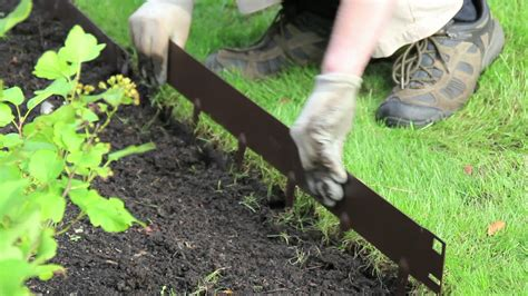 Install Plastic Landscape Edging Everedge How To Install Everedge Lawn Landscape Edging