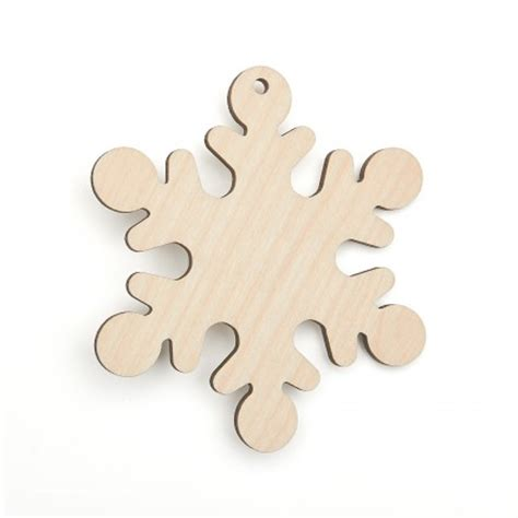 wooden snowflake shape christmas decorations craft shapes