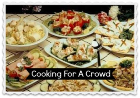 menu for a crowd menu plans cooking for a crowd southern savers