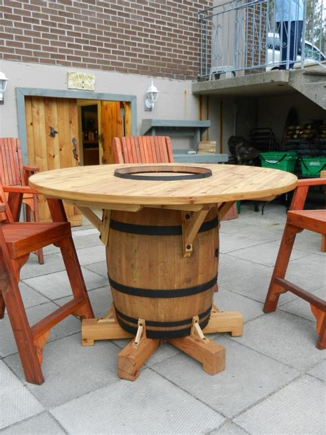 The 25 Best Ideas About Wine Barrel Table On Pinterest Wine Barrel Patio Table