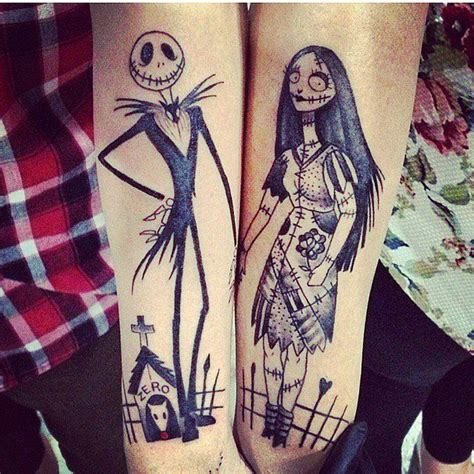 nightmare before christmas couples tattoos best 25 ideas on