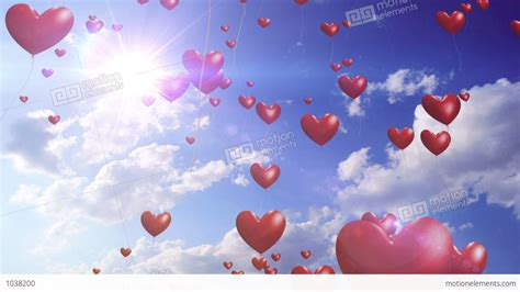 Wedding Hd Backgrounds With Hearts by Balloons Wedding Background Loop