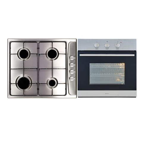 bellini cooktop bellini 60cm stainless steel gas cooktop and electric oven