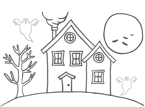 printable house pdf free printable house coloring pages for kids