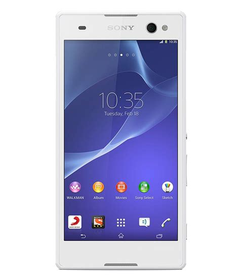 Sony Xperia C3 By Anikishop by Sony Xperia C3 Dual 8gb White Mobile Phones At Low