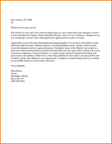 Writing Reference Letter For Immigration letter of recommendation for immigration sle