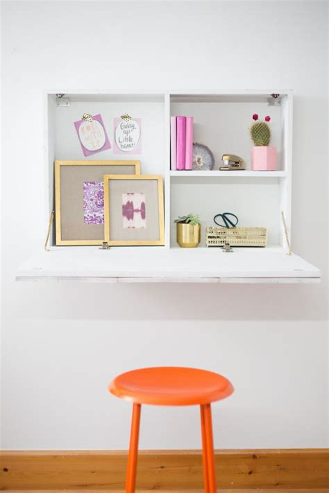how to a wall mounted desk how to build a wall mounted fold desk room
