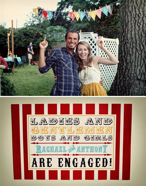 backyard engagement party a carnival themed backyard engagement party green