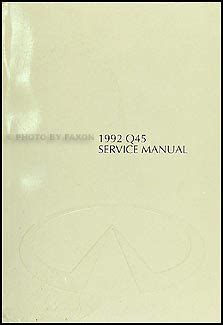 car repair manuals download 1992 infiniti q parking system 1992 infiniti q45 repair shop manual original