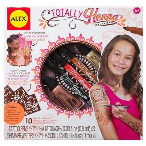 totally henna tattoo craft kit for girls educational