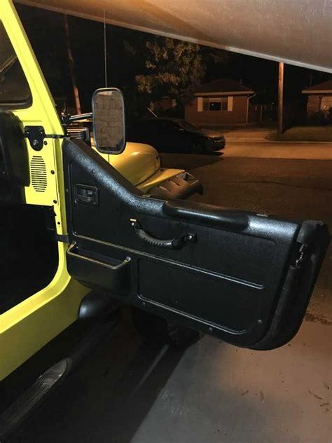 wood panel jeep wrangler gauge works replacement door panel for 87 95 jeep