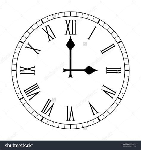 template clock vector clock face template roman numerals