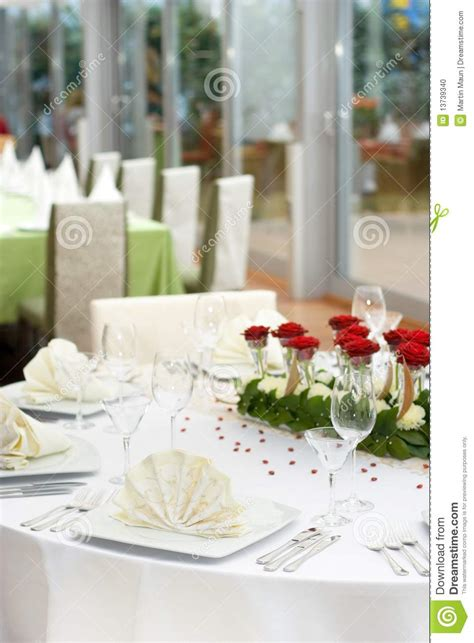 fancy place setting stock photo image of folded fancy elegant wedding table setting stock photo image 13739340