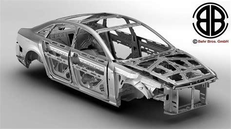 Car Auto Body by Generic Car Body In White 3d Model Max Obj 3ds Fbx C4d Lwo