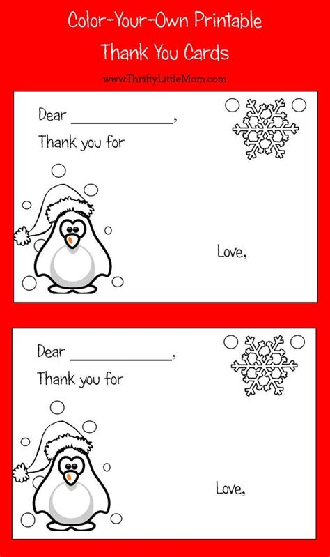 printable q cards color your own printable thank you cards for kids colors