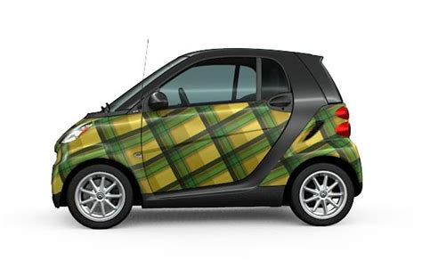 pattern vinyl car wrap if no one notices your smart fortwo why not wrap it in plaid