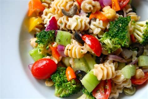 pasta salad dressings veggie pasta salad with zesty italian dressing 187 the daily