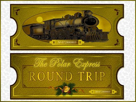 polar express golden ticket template paper crafts foster herring