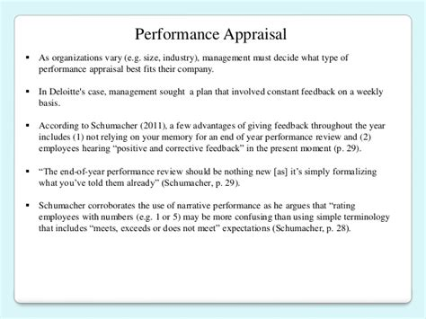 Deloitte Paying For Mba by Hrcu 646 Performance Appraisal
