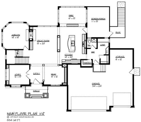 main level floor plans the parkside 1693 4 bedrooms and 3 baths the house