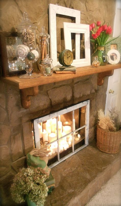 inside fireplace decor 20 romantic fireplace candle ideas home design and interior