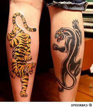 crawling panther tattoo traditional panther