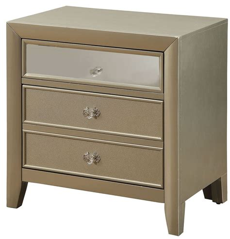 Silver Nightstand briella silver nightstand from furniture of america