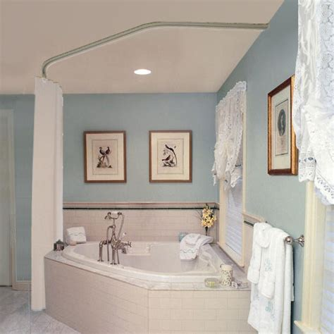 Curtain rod for corner garden tub useful reviews of shower stalls amp enclosure bathtubs and