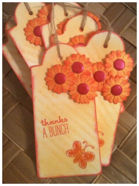 Handmade Thank You Gifts - handmade thank you gift tags pink butterfly by