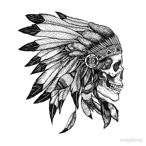 indian chief headdress skull www pixshark com images