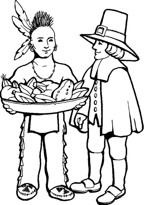 Pilgrim coloring pages to download and print for free