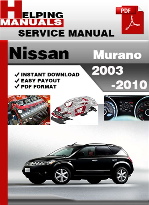 service manual free auto repair manuals 2003 nissan murano lane departure warning nissan helping manuals nissan murano 2003 2010 service repair manual