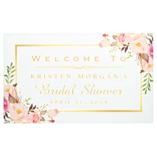 Wedding Cards Banner Uk by Bridal Shower Banners Signs Zazzle