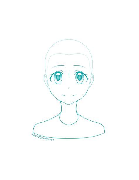 manga girl head template by love2drawmanga on deviantart