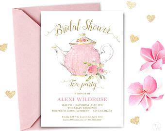 Bridal Shower Tea Etsy Bridal Tea Invitation Template