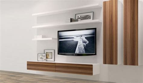 tv shelf design 21 floating media center designs for clutter free living room