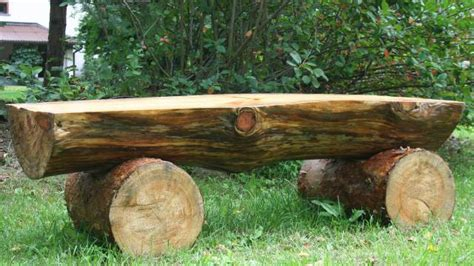 how to make a log bench 20 plans to build a rustic bench from logs guide patterns