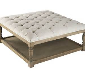modern tufted ottoman coffee table great furniture