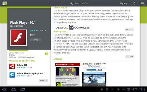 flash version 10 1 for android flash player 10 2 up now for android incorrectly listed as 10 1 android community