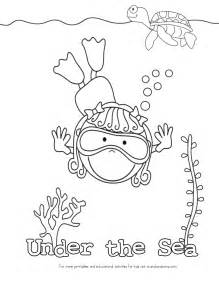 the sea coloring pages kid color pages theme