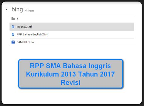 Kimia Kls 2 Sma Kurikulum 2013 Revisi 2017 rpp sma bahasa inggris kurikulum 2013 tahun 2017 revisi berkas pendidikan
