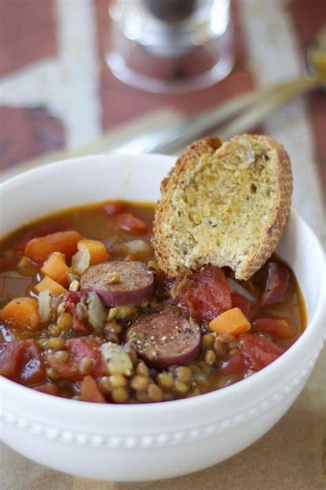 lentil sausage soup healthy choice lentil and sausage soup healthy hearty and delicious