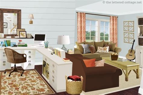 sitting room office ideas home office family room combo i would like to try this
