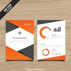 brochure templates free brochure template with orange elements vector free